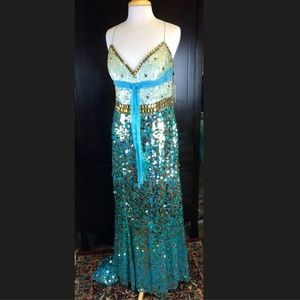 NWT Jovani sequin shimmer gown (Sz 14)